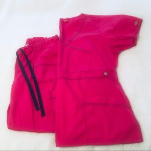 Pink Dickies Scrubs Set